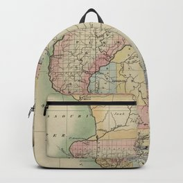 Vintage Map of Illinois (1823) Backpack