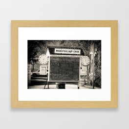 chalk board crier Framed Art Print