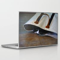 tote bag Laptop & iPad Skins featuring Gracie's Got a Brand New Bag! by Bob Benenson Photo Art