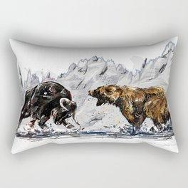 Bull and Bear Rectangular Pillow