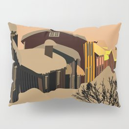 North  town at night Pillow Sham