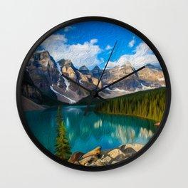Placid lake Wall Clock