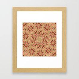 Beautiful day lily kaleidoscope Framed Art Print