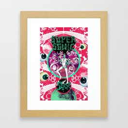 SIXX in Supersonic Pink Framed Art Print