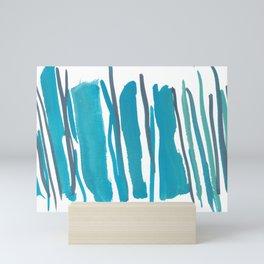 2  |  190408 Blue Abstract Watercolour Mini Art Print