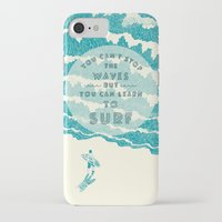 ilovedoodle iPhone & iPod Cases featuring You can't stop the wave by I Love Doodle