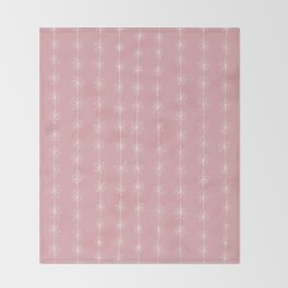 Pink Daisy Chain (Large Print) Throw Blanket