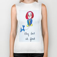 pennywise Biker Tanks featuring Pessimistic Pennywise by Ashley Petersen
