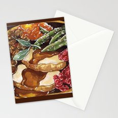 Turkey Dinner Stationery Cards