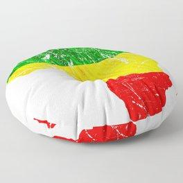 Africa Map Reggae Rasta design Green Yellow Red Africa pride Floor Pillow