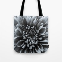 shabby chic Tote Bags featuring Shabby Chic Flower by Dawn OConnor