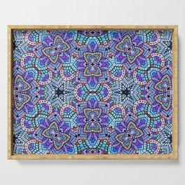 Persian kaleidoscopic Mosaic G509 Serving Tray