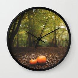 Family Pumpkin Wall Clock