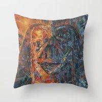 vader Throw Pillows featuring Vader by artofJPH