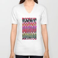 chevron V-neck T-shirts featuring Chevron * by Mr and Mrs Quirynen