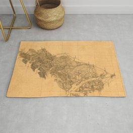 Map Of Savannah 1861 Rug