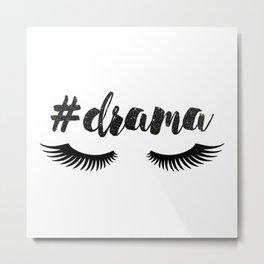#Drama | Lashes Metal Print