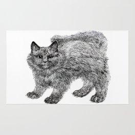 fluffy kitten Rug