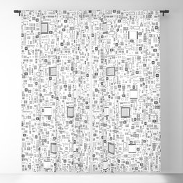 All Tech Line / Highly detailed computer circuit board pattern Blackout Curtain