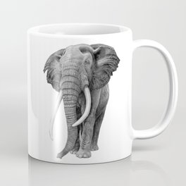 Bull elephant - Drawing in pencil Coffee Mug