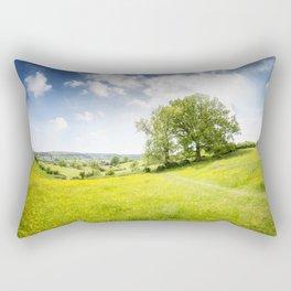 Idyllic Cotswold Summer Landscape Rectangular Pillow