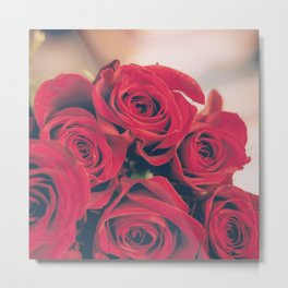 Bundle of Red Roses Metal Print