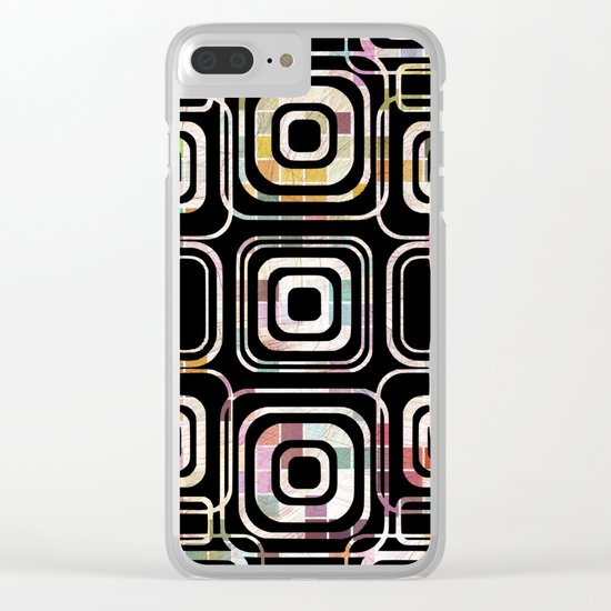 Colorful cube ring Clear iPhone Case