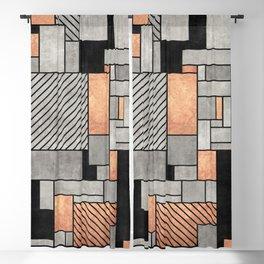 Random Pattern - Concrete and Copper Blackout Curtain