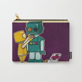 Robots on Friendship Carry-All Pouch