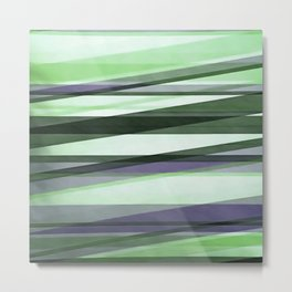 Semi Transparent Layers In Green Lime and Lavender Metal Print