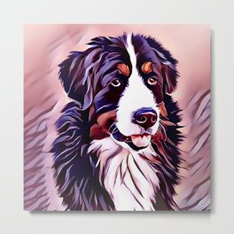 The Bernese Mountain Dog Metal Print