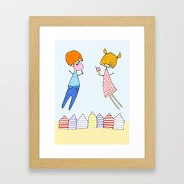 Let's go to the beach! Framed Art Print