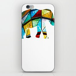 Stained Glass Elephant Gift iPhone Skin