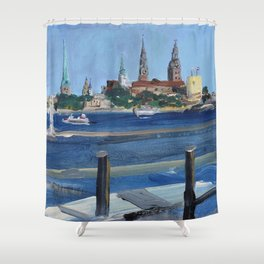 Pearl of the Baltics Shower Curtain