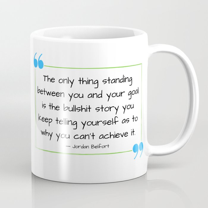 Lifting My Spirits Logo Black Coffee Mug