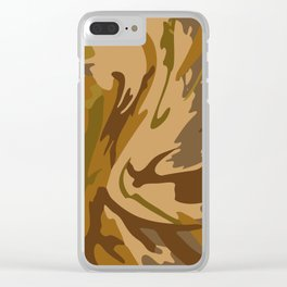 Pattern army style Clear iPhone Case