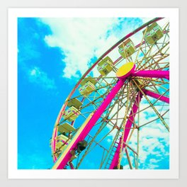Candy Colored Ferris Wheel Art Print