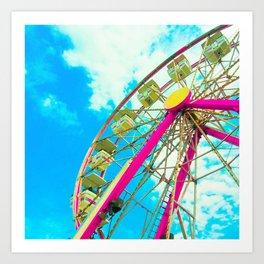 Candy Colored Ferris Wheel Art Print