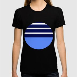 Summer Patio Perfect, Blue, White & Navy T-shirt