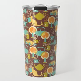 Cozy cat hygge Travel Mug
