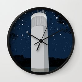 Tower in the forest Wall Clock