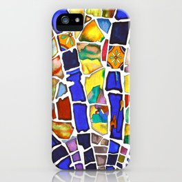 A walk in a beautiful garden iPhone Case