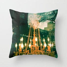 City Chandelier Throw Pillow