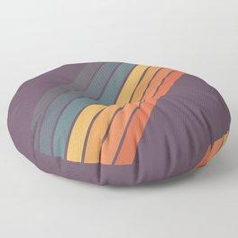 Classic 70s Style Retro Stripes - Dalana Floor Pillow
