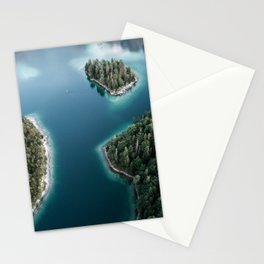 Lakeside Views at Sunset - Landscape Photography Stationery Cards