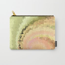 Multicolored mosaic in pink and yellow - green tones . Carry-All Pouch