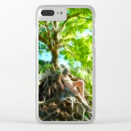 0789f-JAS Tree of Life Energy Flow Visualized Clear iPhone Case