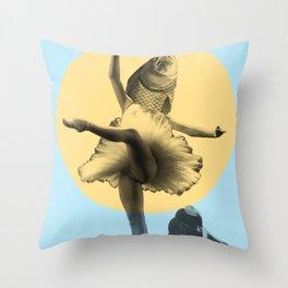Ballerina Fish Throw Pillow