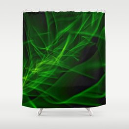 Glowstick Light painting Shower Curtain