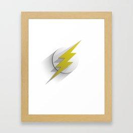 Flash flat Framed Art Print